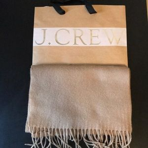 J.Crew Solid Cashmere Scarf Camel